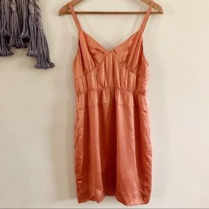 J. Crew • burnt orange silky serenade mini dress 2